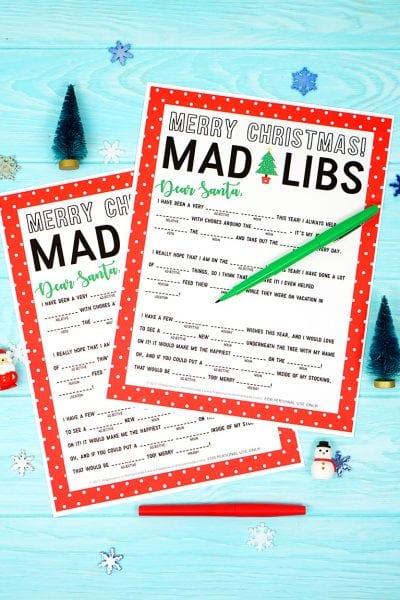 Christmas Mad Libs Printable