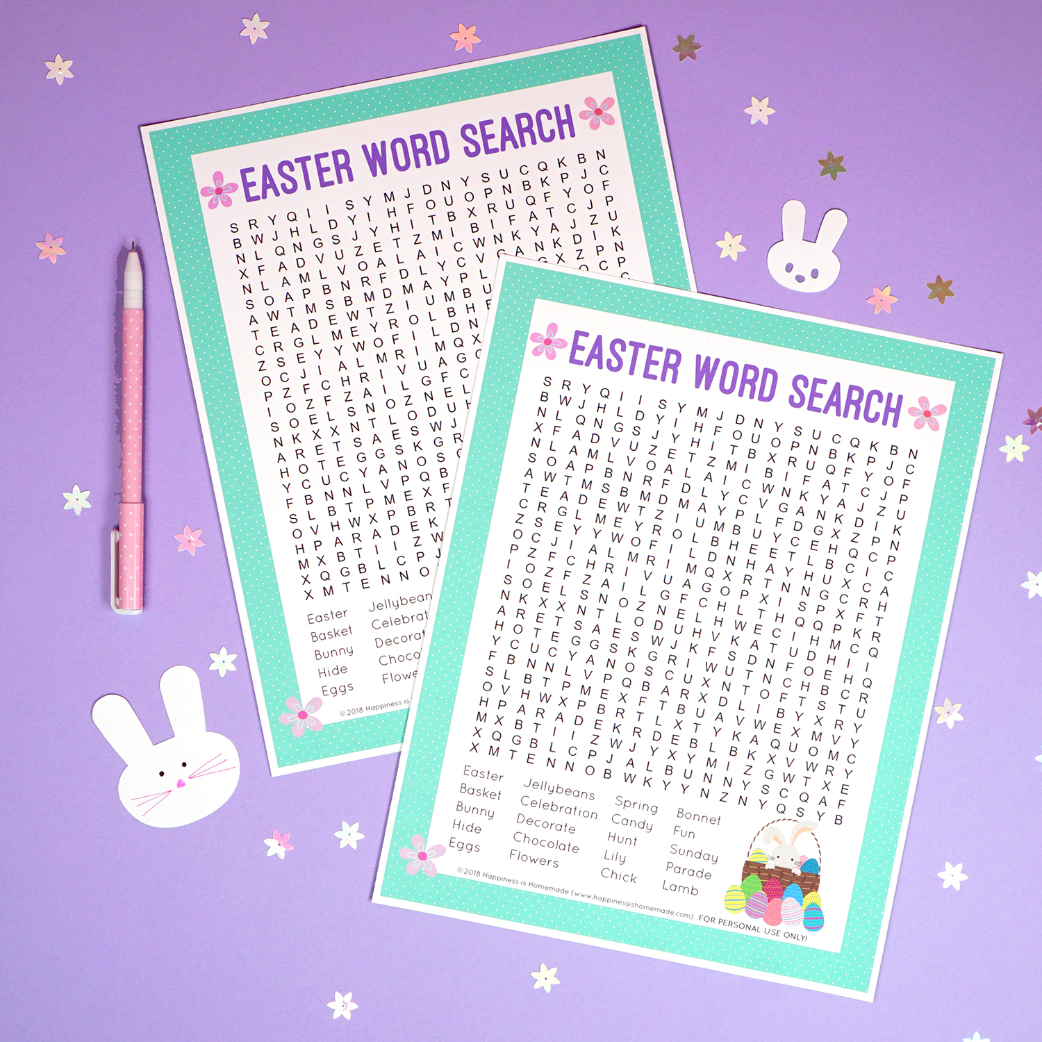 photo about Easter Word Search Printable Worksheets referred to as Easter Phrase Appear Printable - Joy is Do-it-yourself