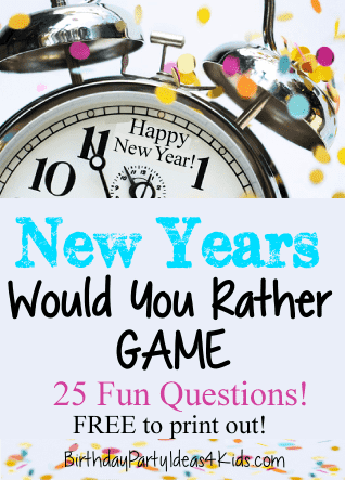 20 Fun New Year S Eve Games Happiness Is Homemade