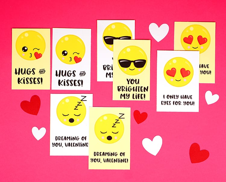 photo about Printable Emojis titled Emoji Valentine Playing cards - Contentment is Do-it-yourself