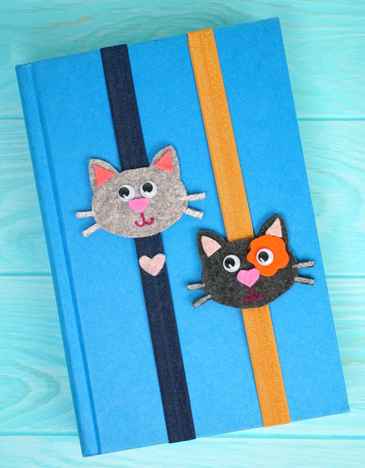 Easy craft for kids cat bookmarks happiness is homemade for Bookmark craft for kids