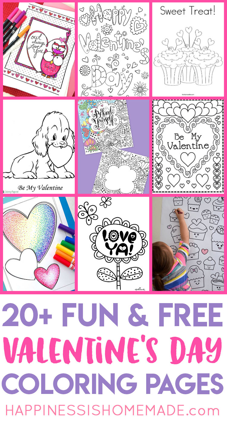 picture relating to Valentines Printable Color Pages known as Valentines Coloring Web pages - Contentment is Home made
