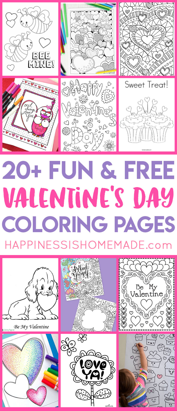 graphic about Printable Valentine Coloring Page named Valentines Coloring Web pages - Joy is Handmade