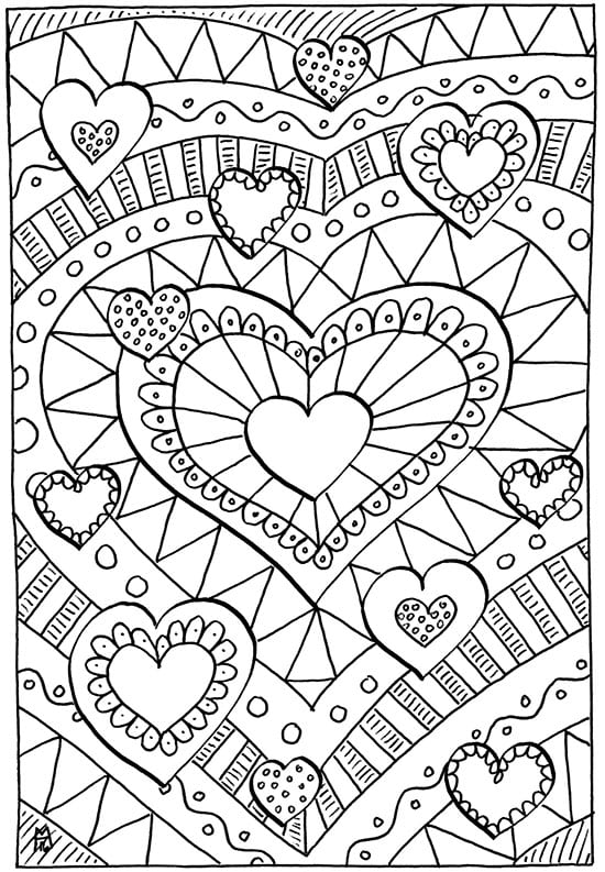 Valentines Coloring Pages Happiness