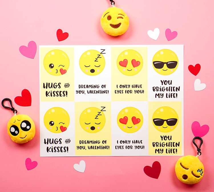 Emoji Valentine Cards Happiness Is Homemade