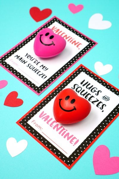 Squeezy Heart Valentines Cards