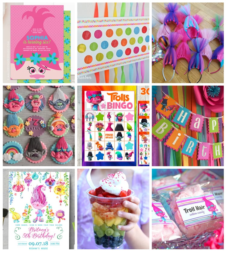 The Best Trolls Party Ideas Decorations Favors Games