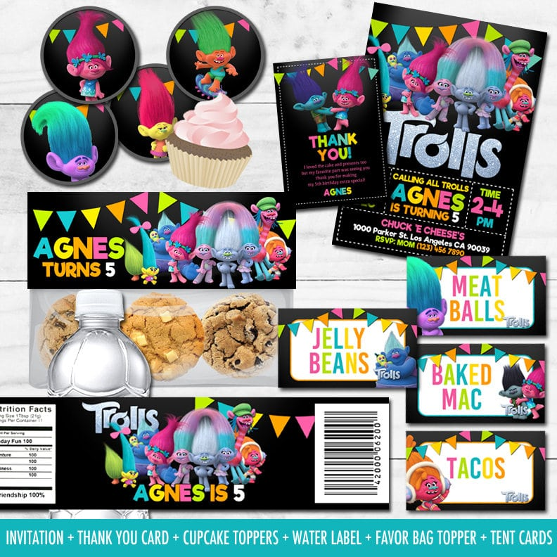 photo about Printable Trolls Birthday Invitations named The Ideal Trolls Birthday Get together Designs - Pleasure is Do-it-yourself