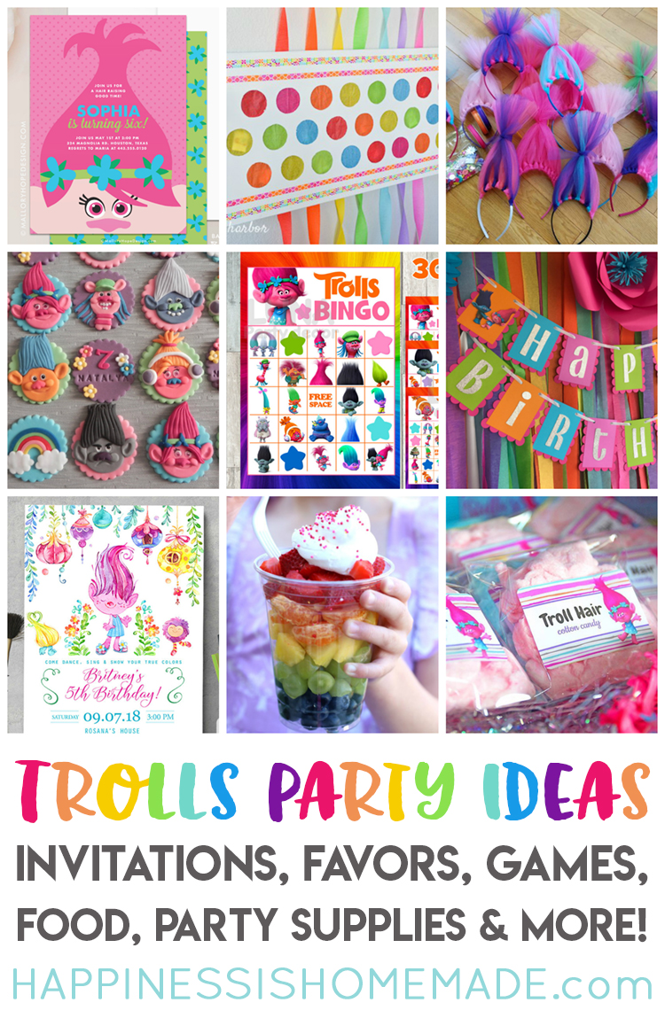The Best Trolls Birthday Party Ideas