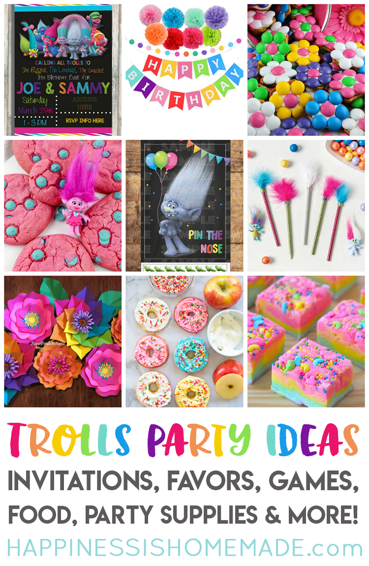 The Best Trolls Birthday Party Ideas Happiness is Homemade