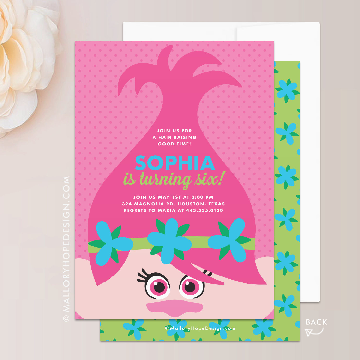 These Peek A Boo Poppy Invitations From Mallory Hope Design Are So Cute