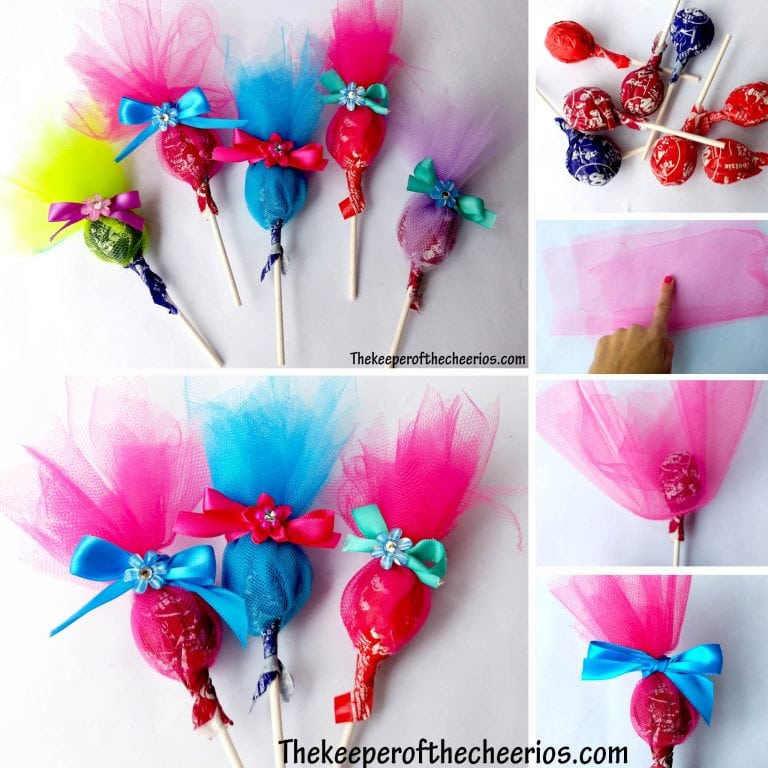 Make These Adorable Troll Lollipops With The Tutorial From Keeper Of Cheerios Or You Can Purchase Pre Made Craftastic Paula