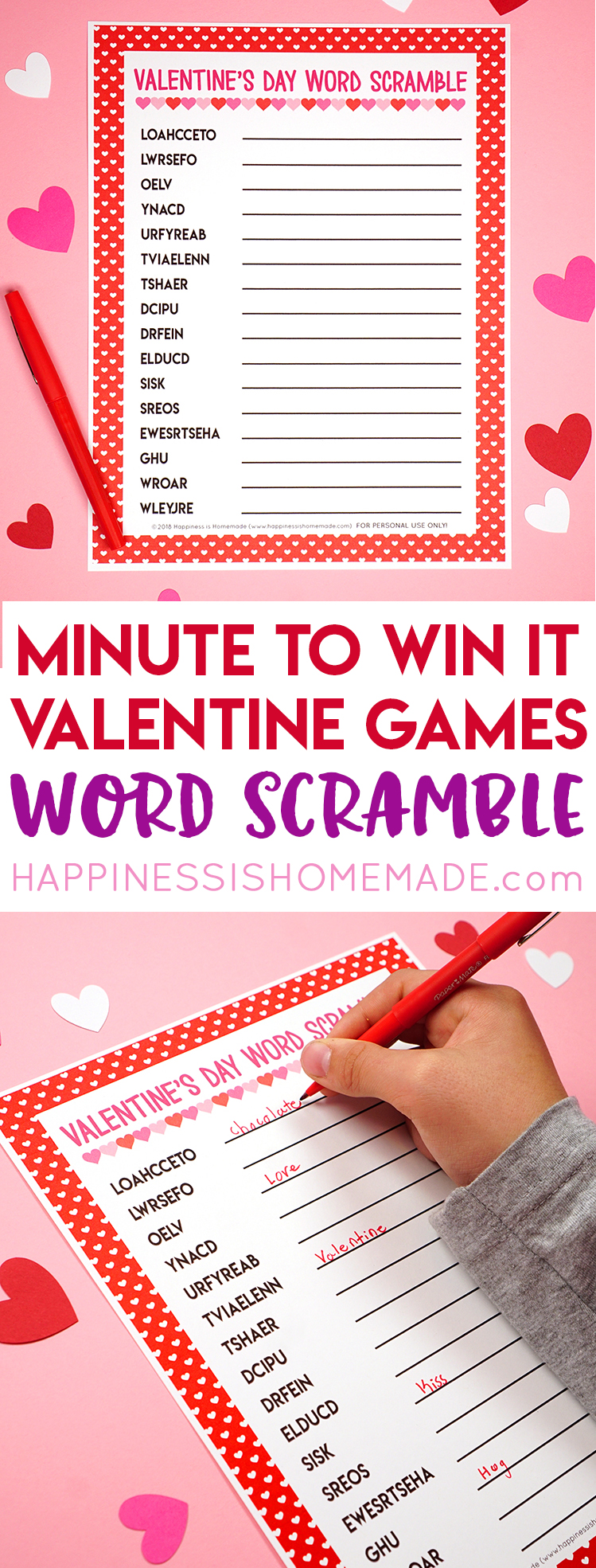 Valentine Minute To Win It Games Happiness Is Homemade