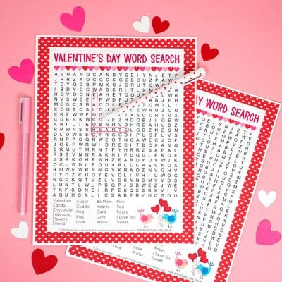 Valentine's Day Word Search Printable