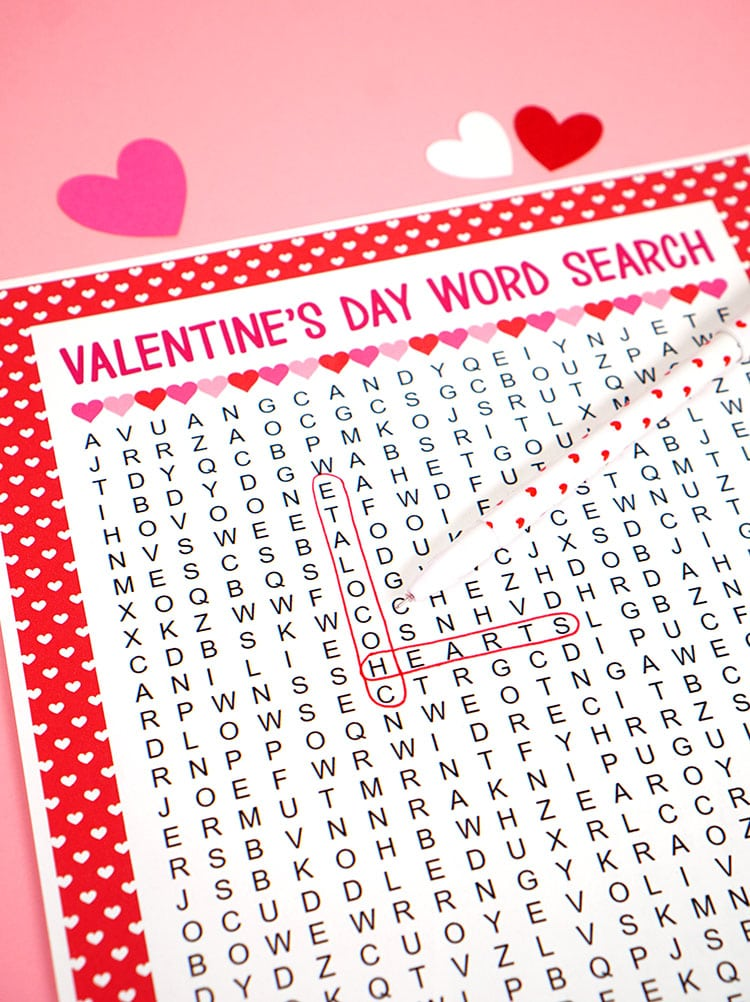 photo relating to Valentine's Day Crossword Puzzle Printable named Valentines Working day Phrase Appear Printable - Joy is Handmade