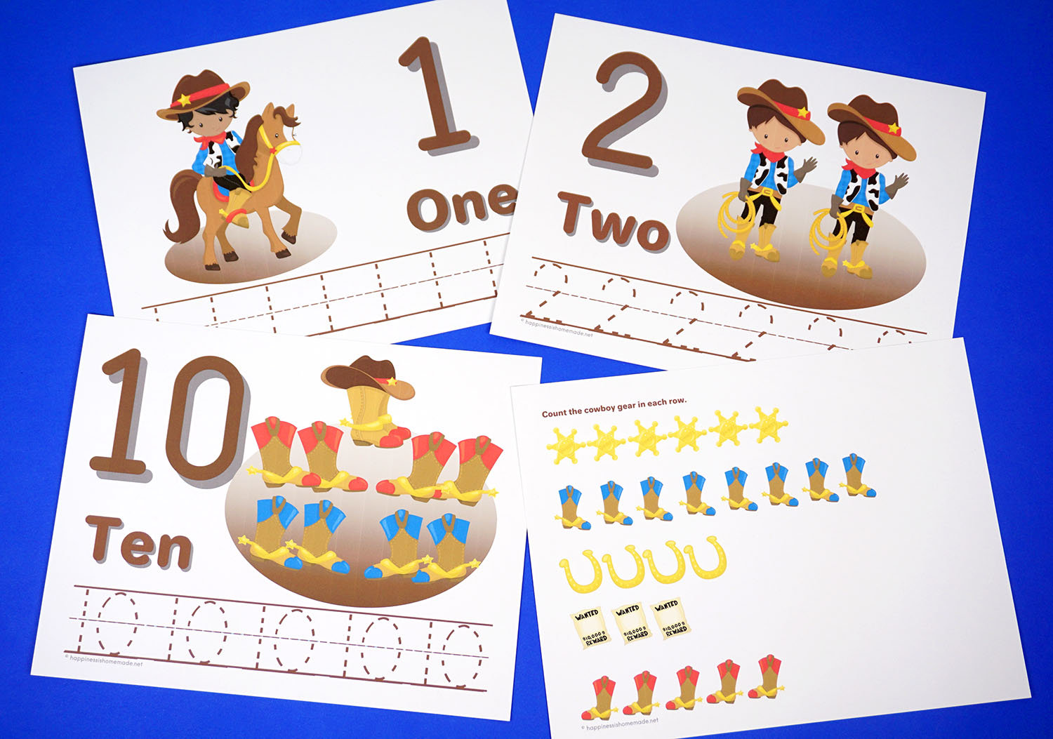 Preschool Worksheets Counting Number Tracing Worksheets