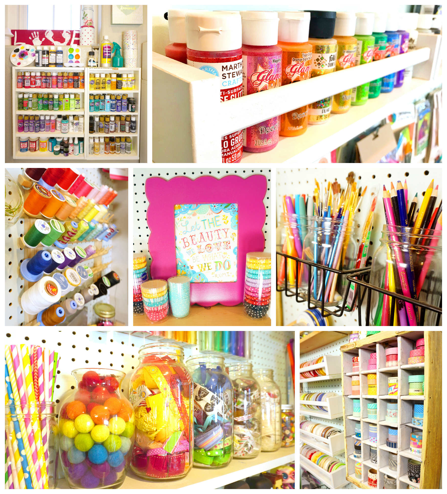 Craft Room Tour - Happiness is Homemade