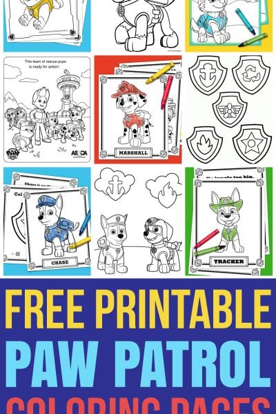 Free Printable PAW Patrol Coloring Pages Coloring Sheets