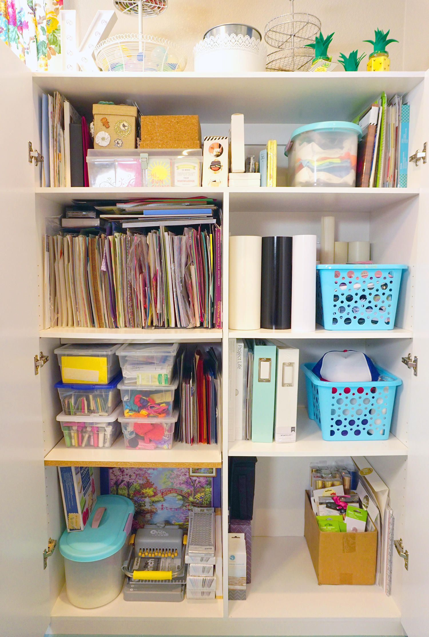 ... Craft Supply Cabinet Stands. Let Me Tell You, This Baby Is Also Key In  Helping To Keep My Space Looking Clean And Tidy Because Itu0027s A Hot Mess  Inside Of ...