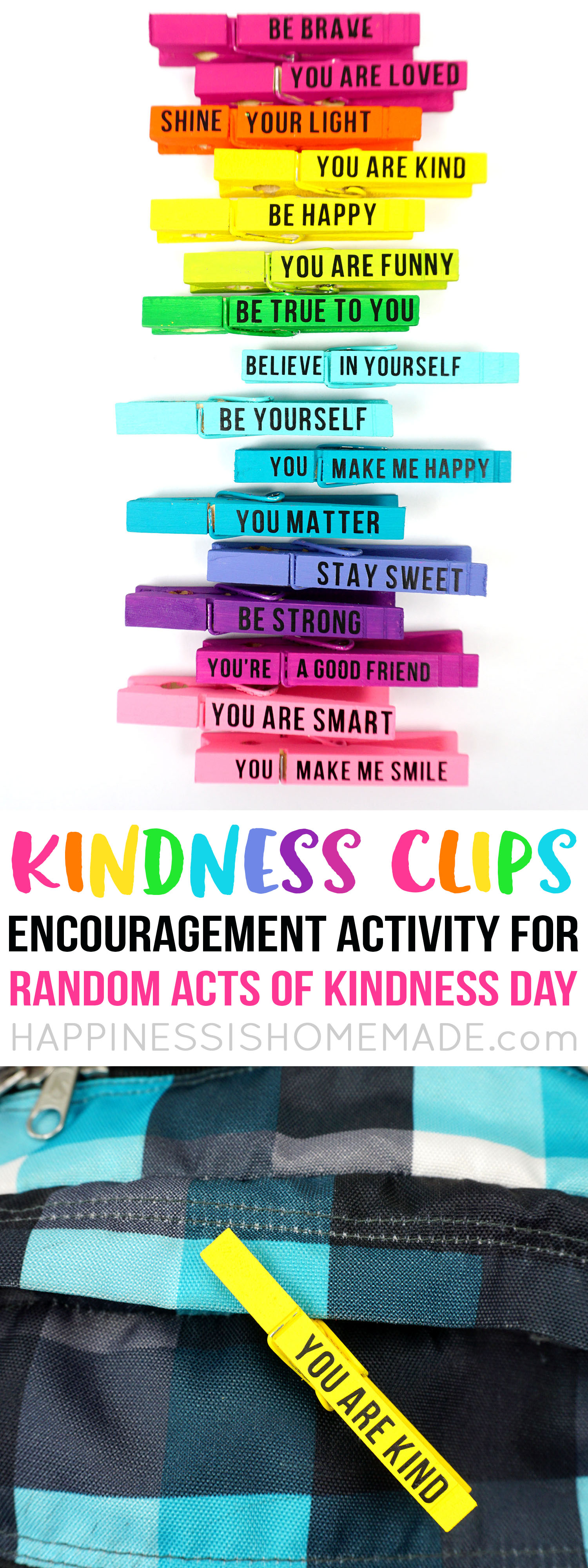 Kindness Clips: Random Acts of Kindness Idea - Happiness is