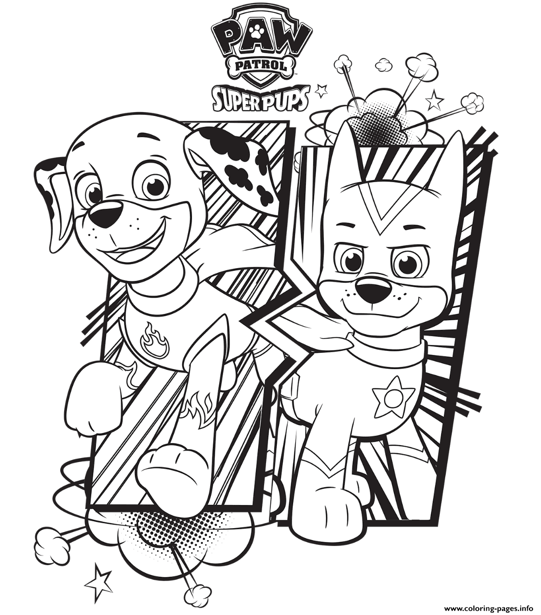 graphic relating to Printable Paw Patrol Coloring Pages called No cost PAW Patrol Coloring Web pages - Joy is Home made