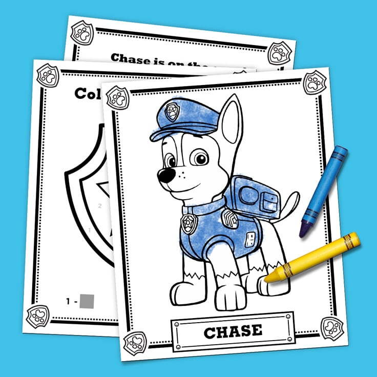 graphic regarding Free Printable Paw Patrol Badges identified as Totally free PAW Patrol Coloring Internet pages - Pleasure is Handmade
