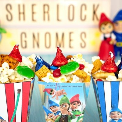 Sherlock Gnomes Snack Mix + Printable Treat Box
