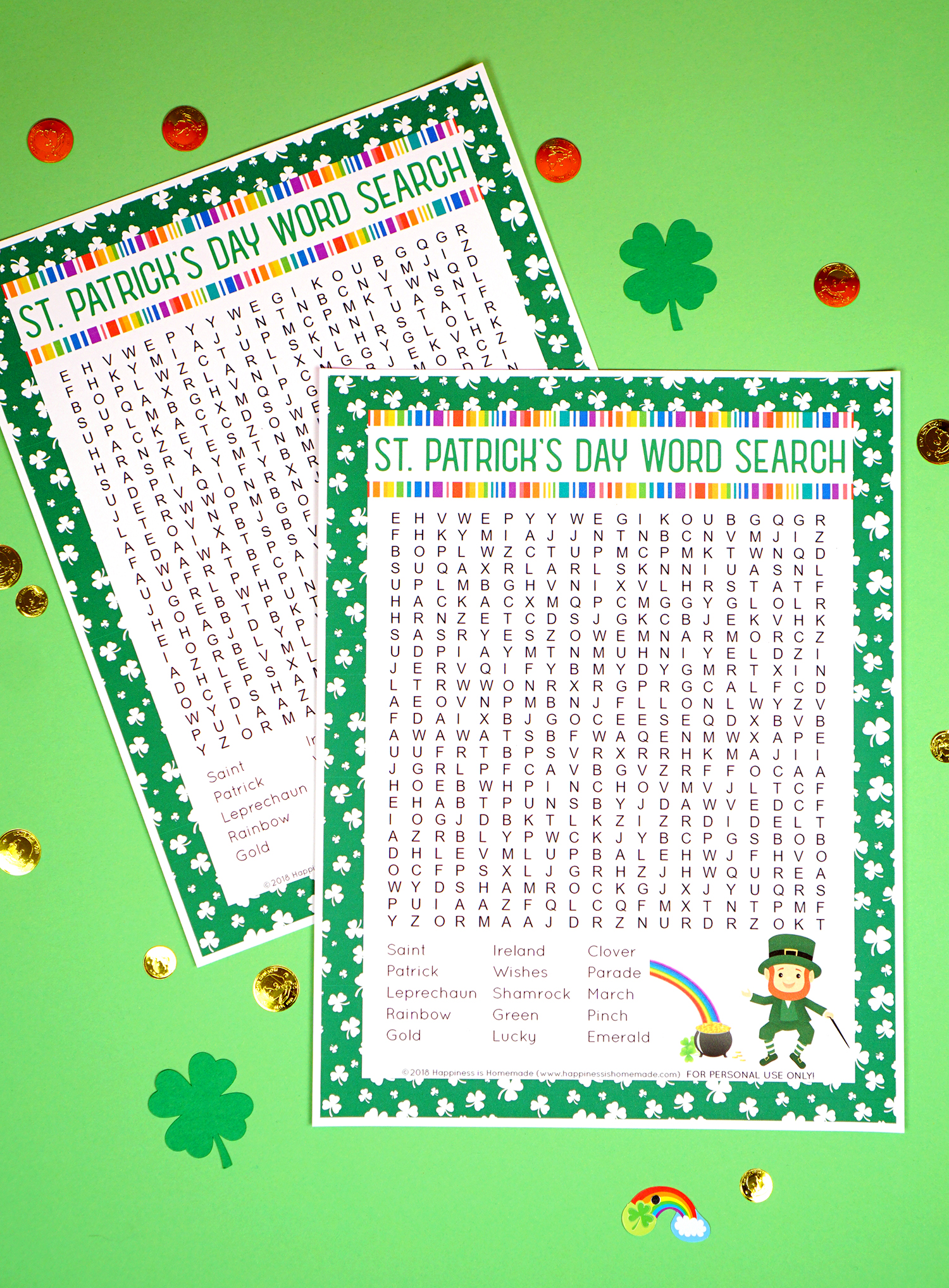picture regarding St Patrick Day Trivia Questions and Answers Printable called St. Patricks Working day Phrase Glance Printable - Joy is Handmade