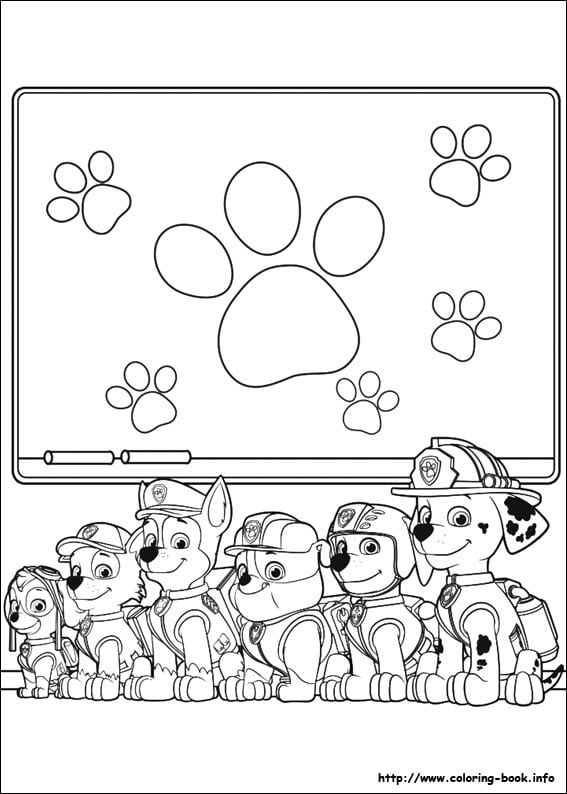 this fun sheet of the paw patrol team is just one of 50 paw patrol coloring pages on coloring bookinfo - Free Printable Paw Patrol Coloring Pages