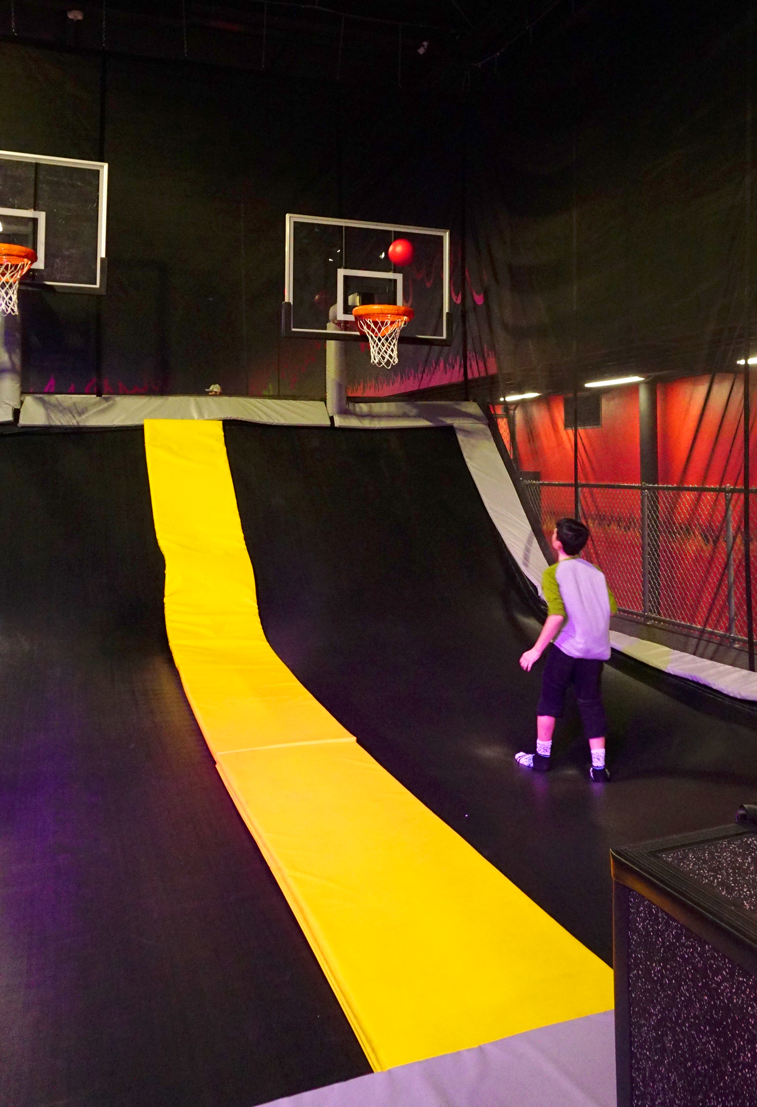 Mojo dojo extreme air sports sacramento happiness is for Homemade basketball court