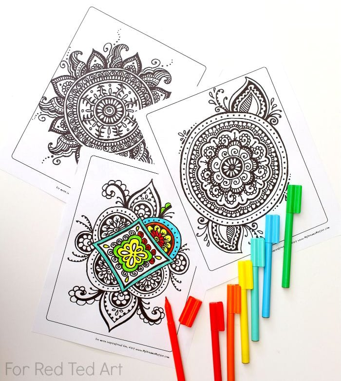 meaningful mandala coloring pages at red ted art