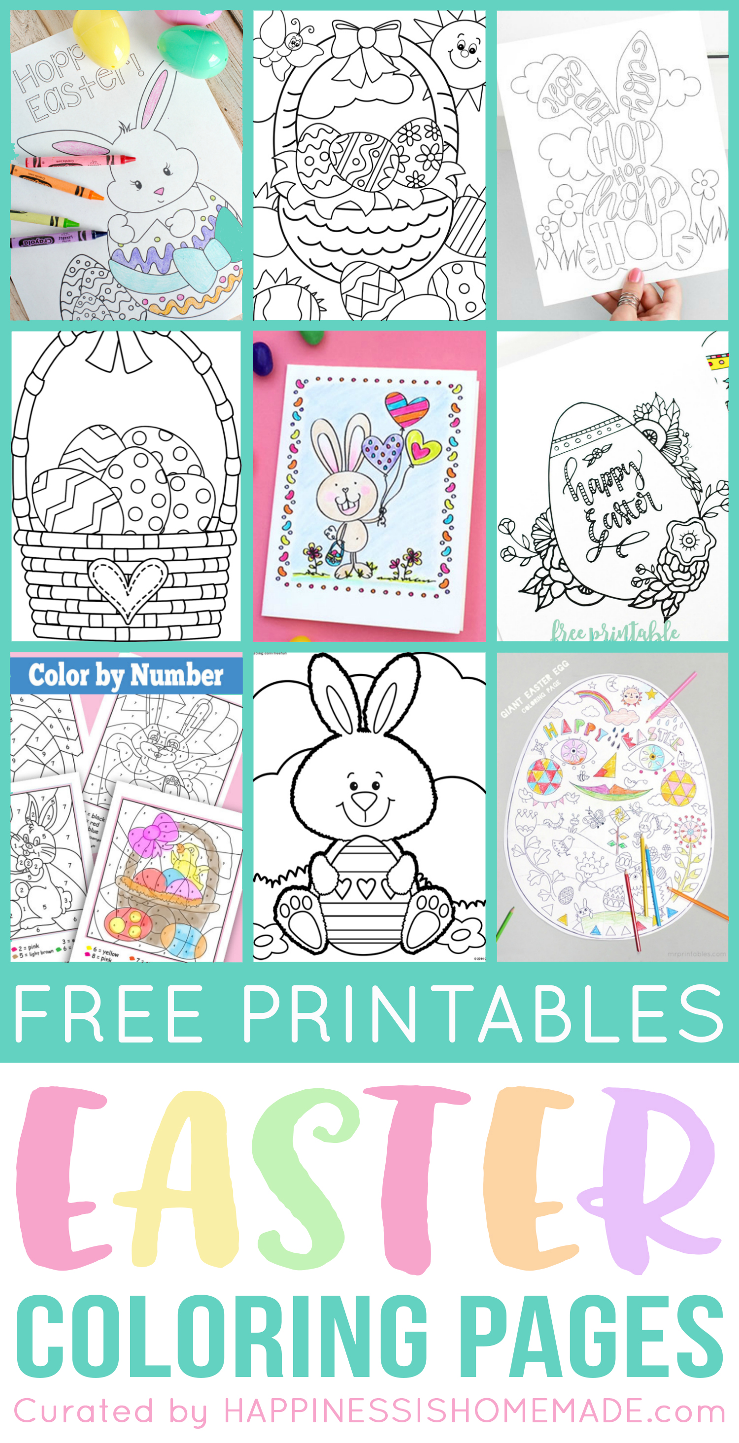 photograph relating to Color by Number Easter Printable known as No cost Easter Coloring Web pages - Joy is Selfmade