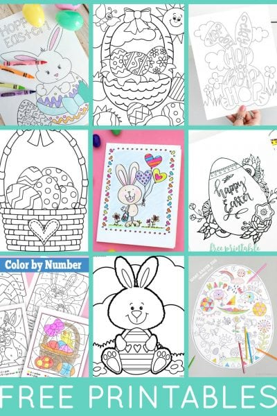 Easter Coloring Pages - Free Printable Easter Coloring Sheets