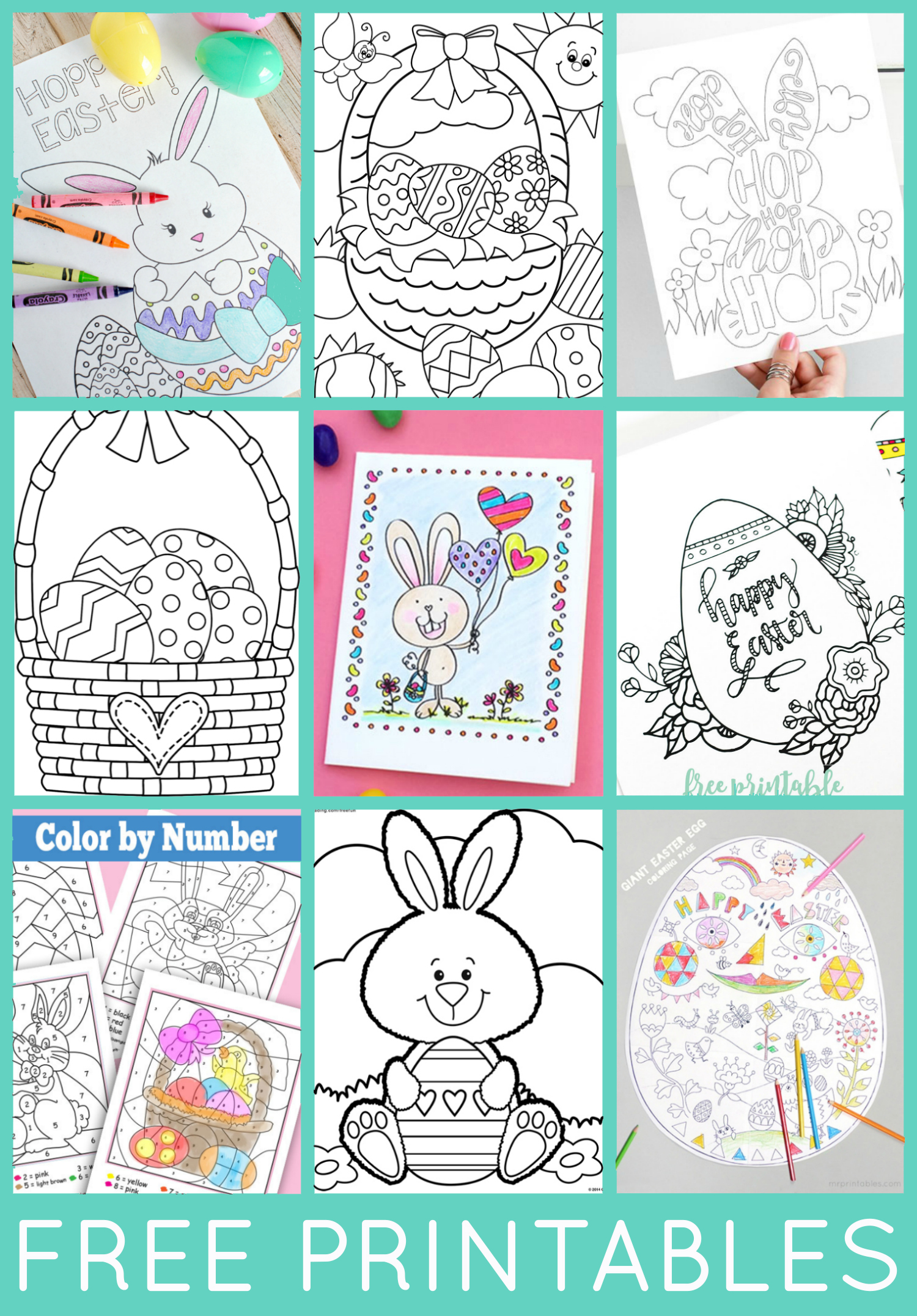 image relating to Easter Printable titled Totally free Easter Coloring Internet pages - Contentment is Do-it-yourself