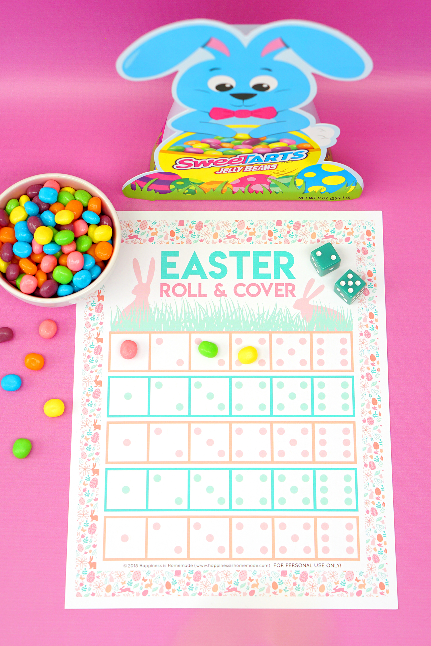 photo relating to Printable Easter Games named Roll Include Printable Easter Video game - Joy is Do-it-yourself