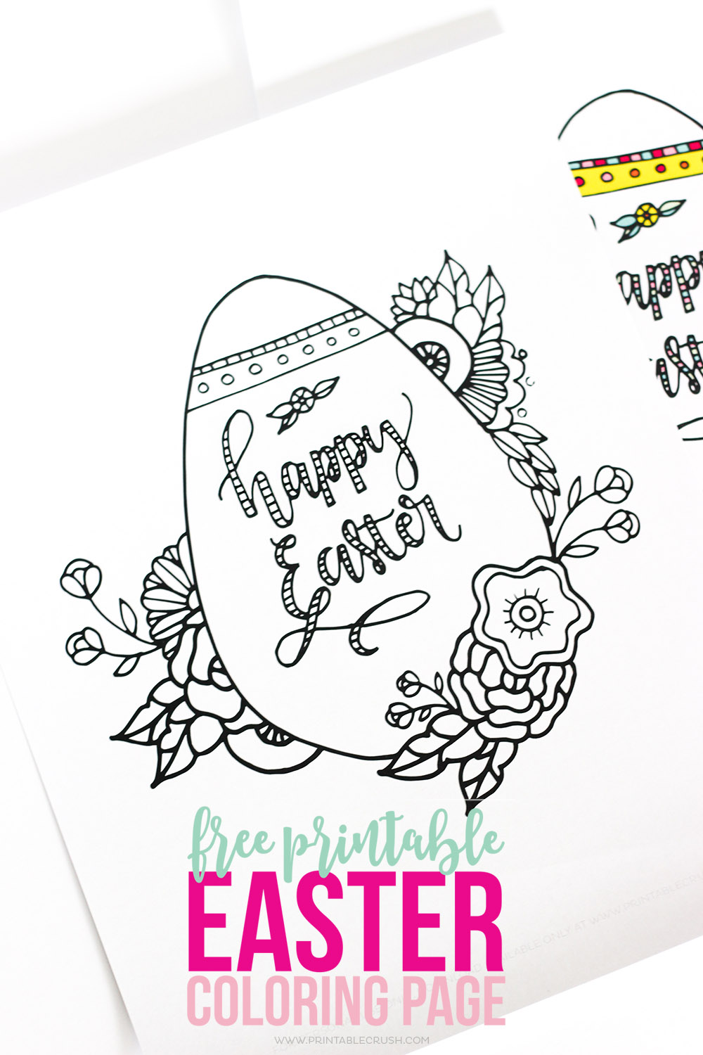 FREE Easter Coloring Pages Happiness