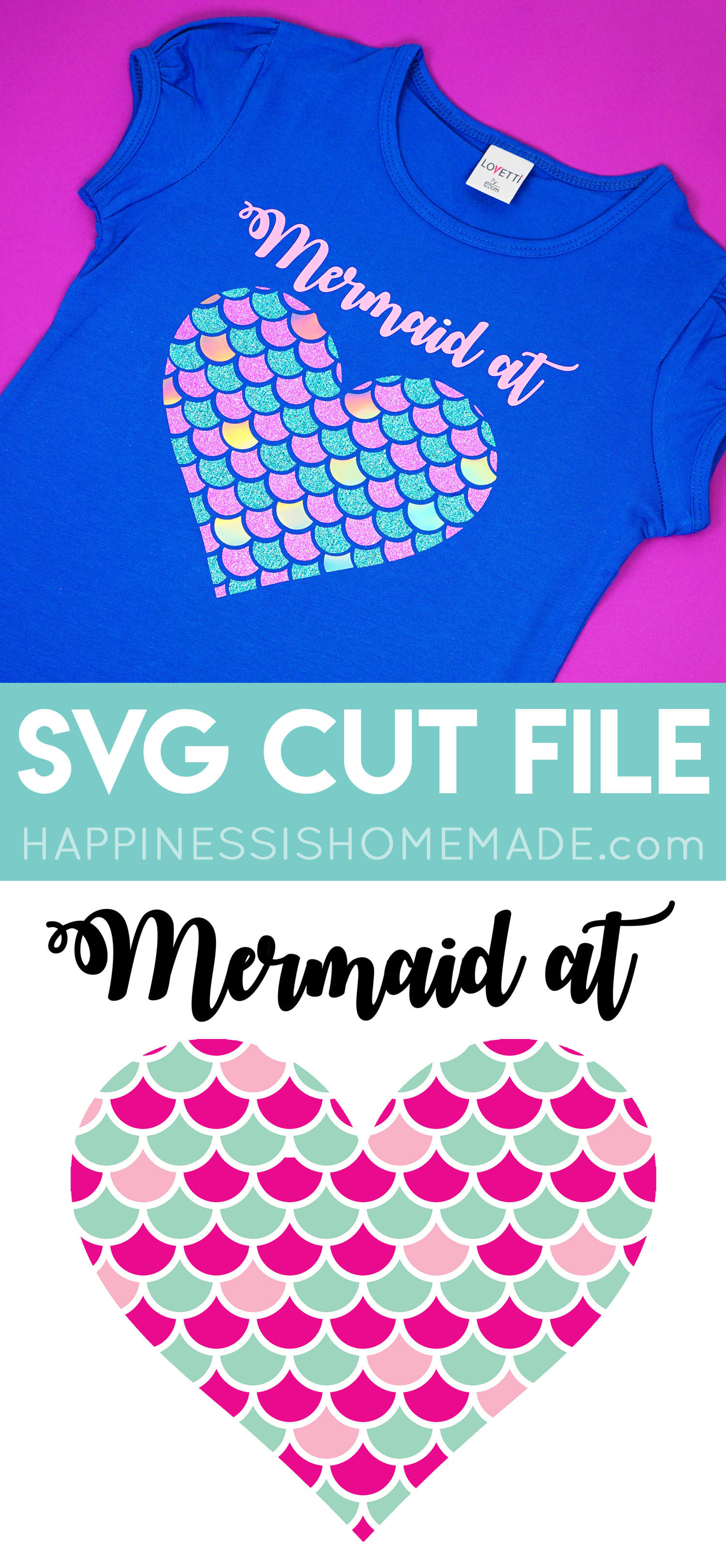 Adorable Mermaid Svg File Happiness Is Homemade