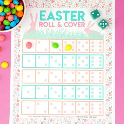 Roll & Cover Printable Easter Game