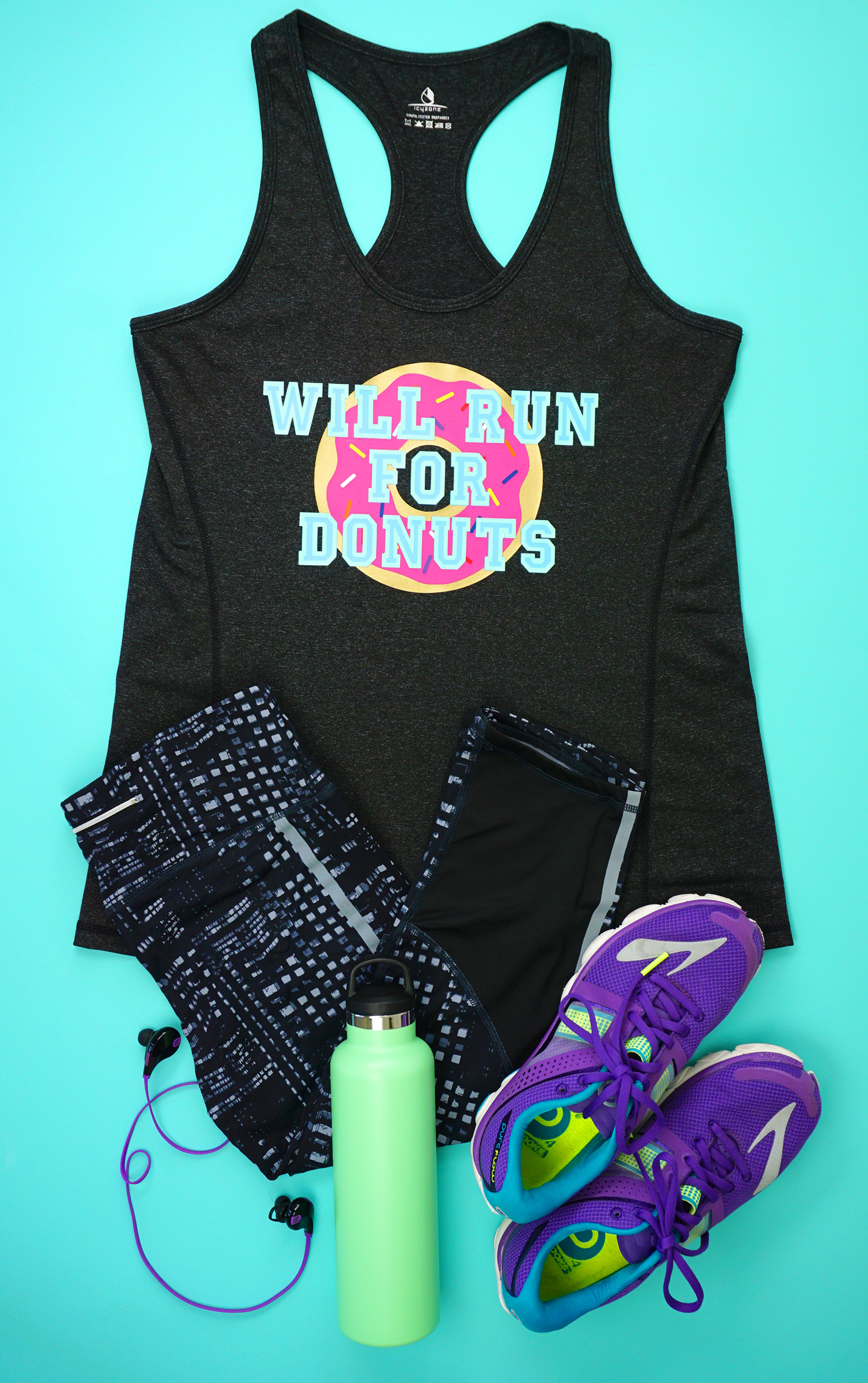 Funny Workout Shirt Quot Will Run For Donuts Quot With Cricut Sportflex Iron On Happiness Is Homemade