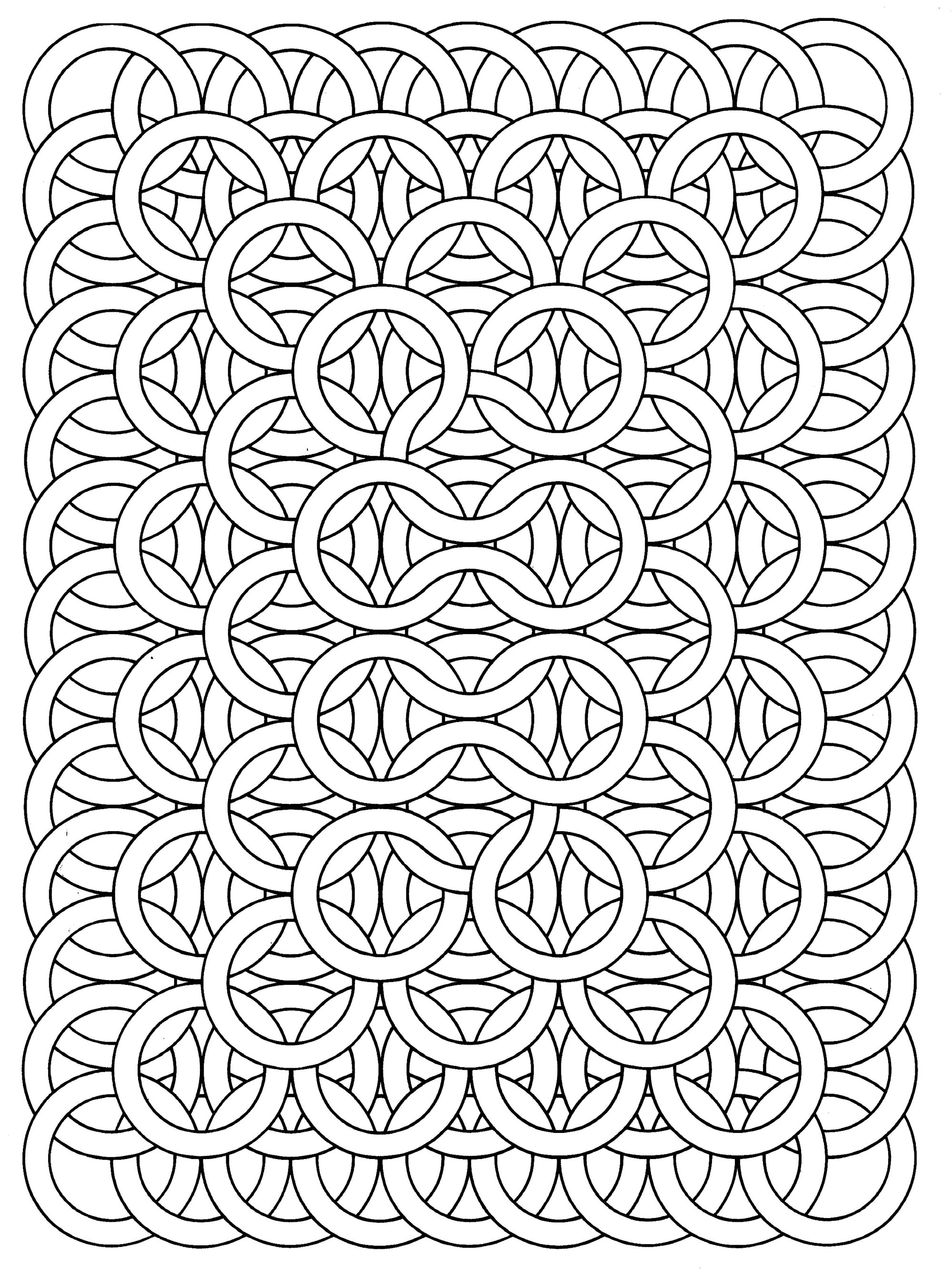 Printable coloring pages for adults interlinking rings coloring page