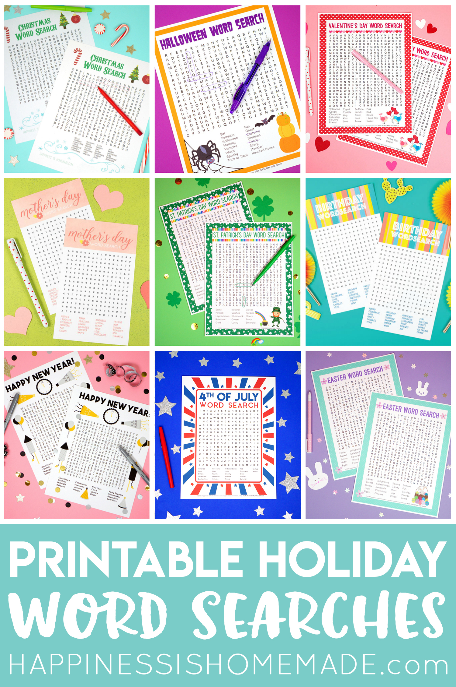 Pin These Holiday Word Search Printables For Later