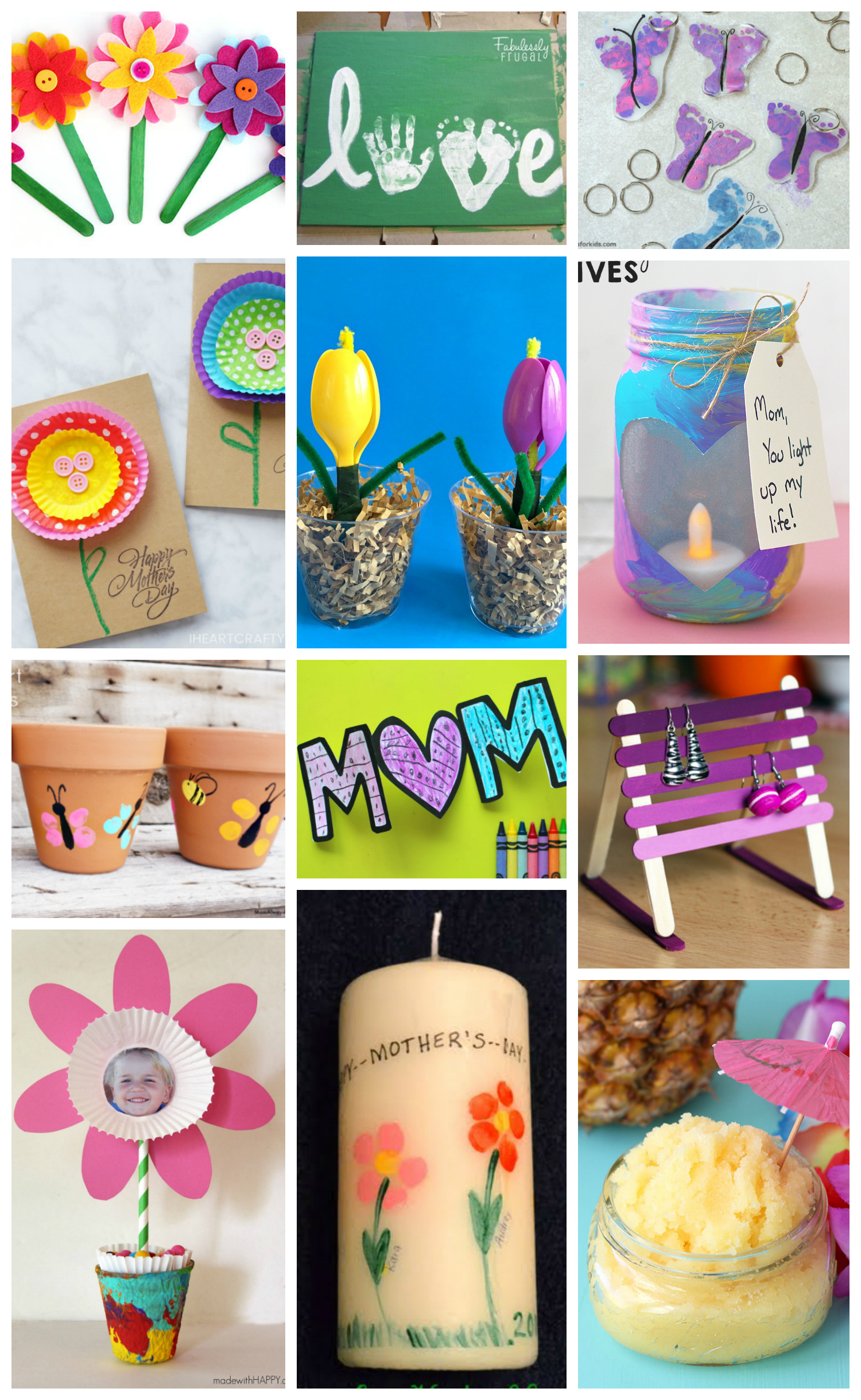 Easy Mother's Day Crafts for Kids - Happiness is Homemade