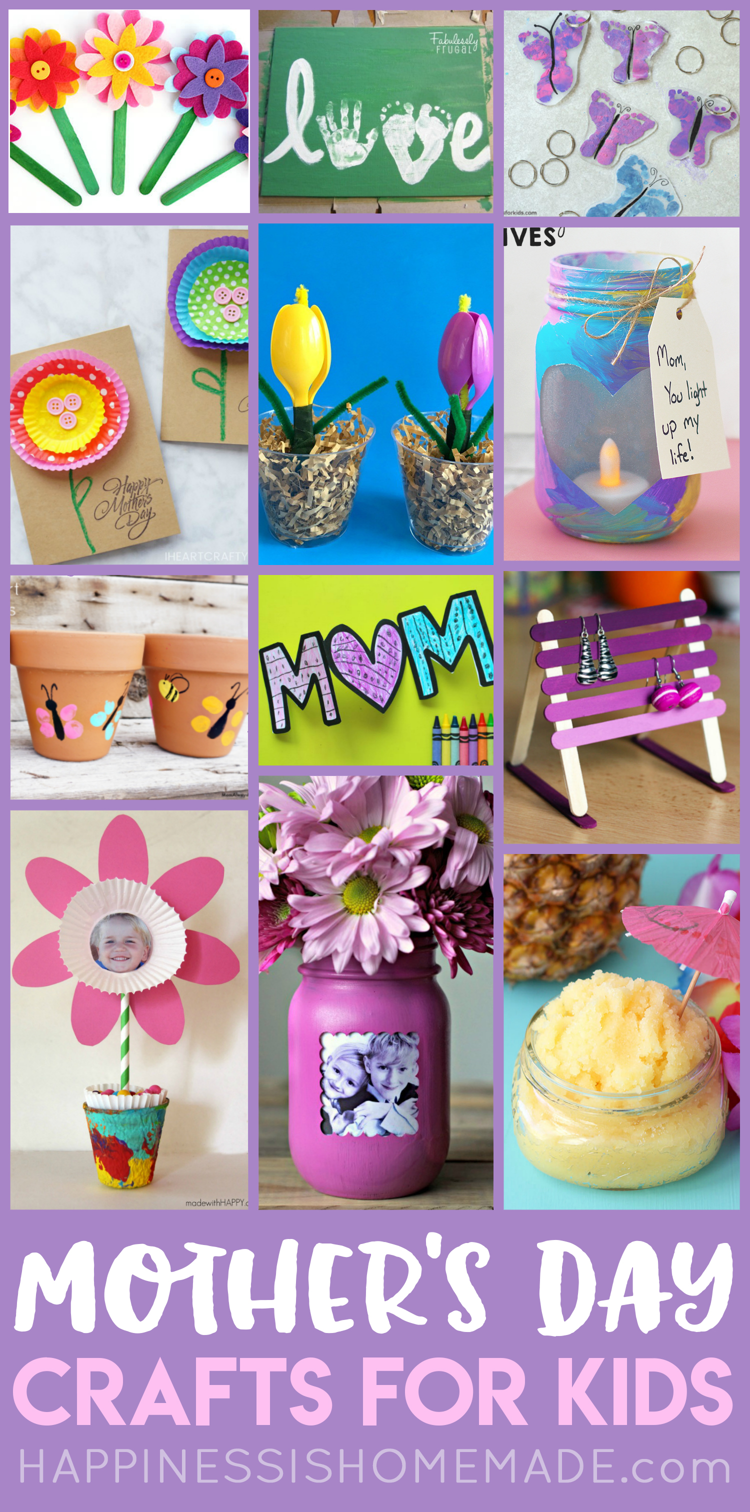 Easy Mothers Day Crafts For Kids Happiness Is Homemade