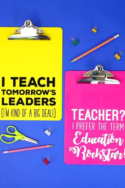Teacher Appreciation Gift Idea: Quote Clipboards