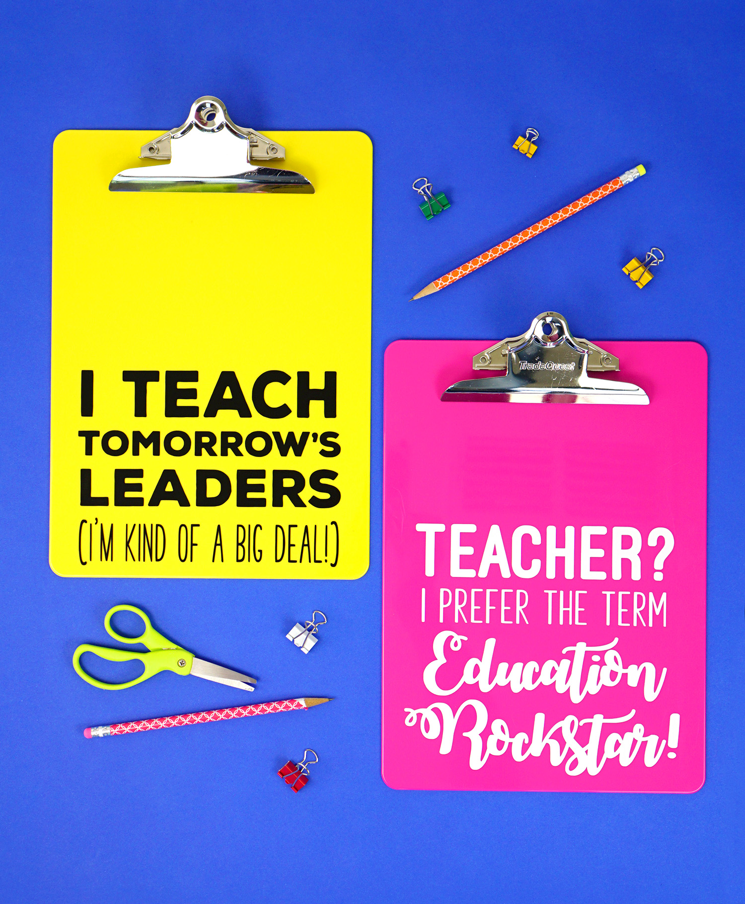 Teacher Appreciation Gift Idea Quote Clipboards Happiness Is Homemade