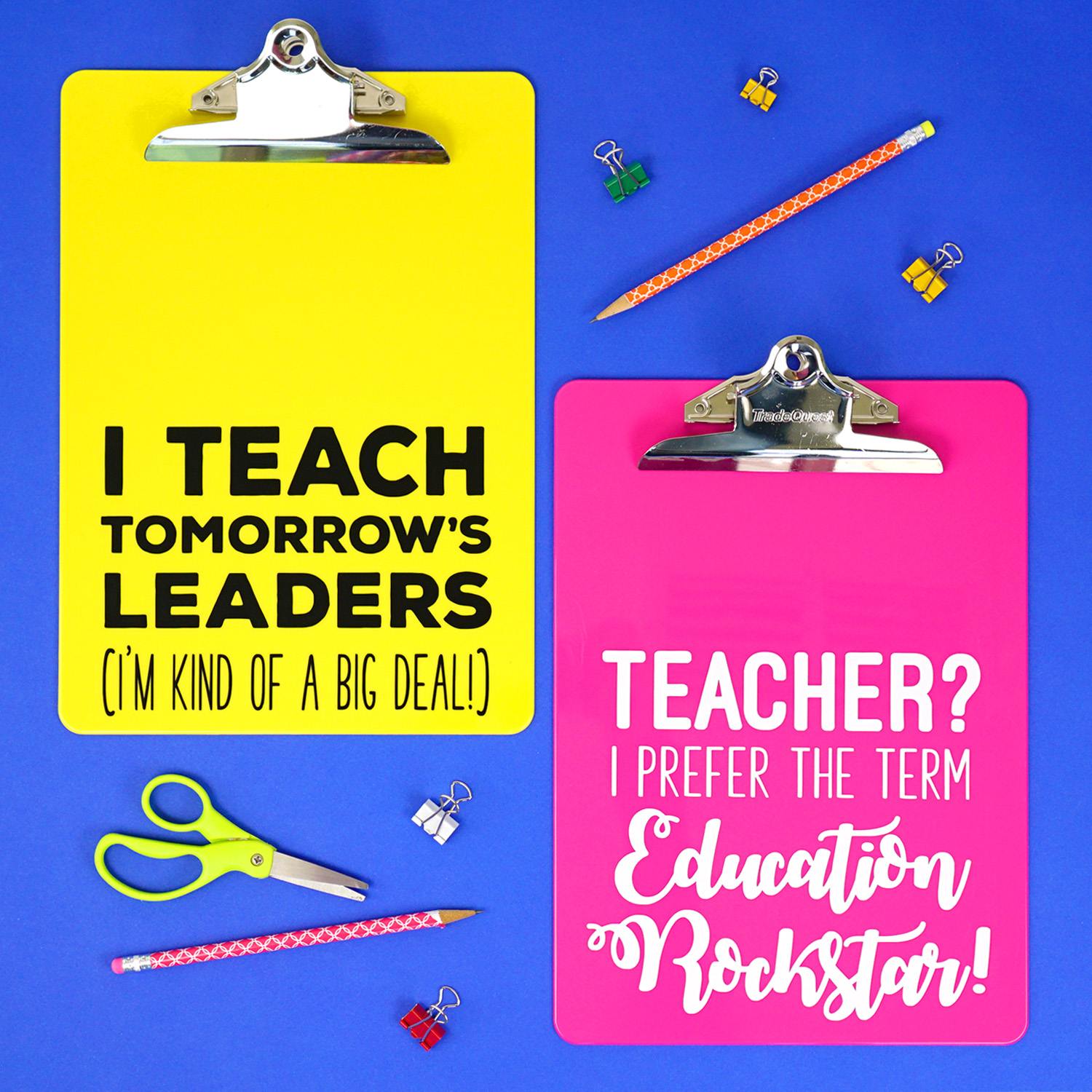 Teacher Appreciation Gift Idea: Quote Clipboards   Happiness is