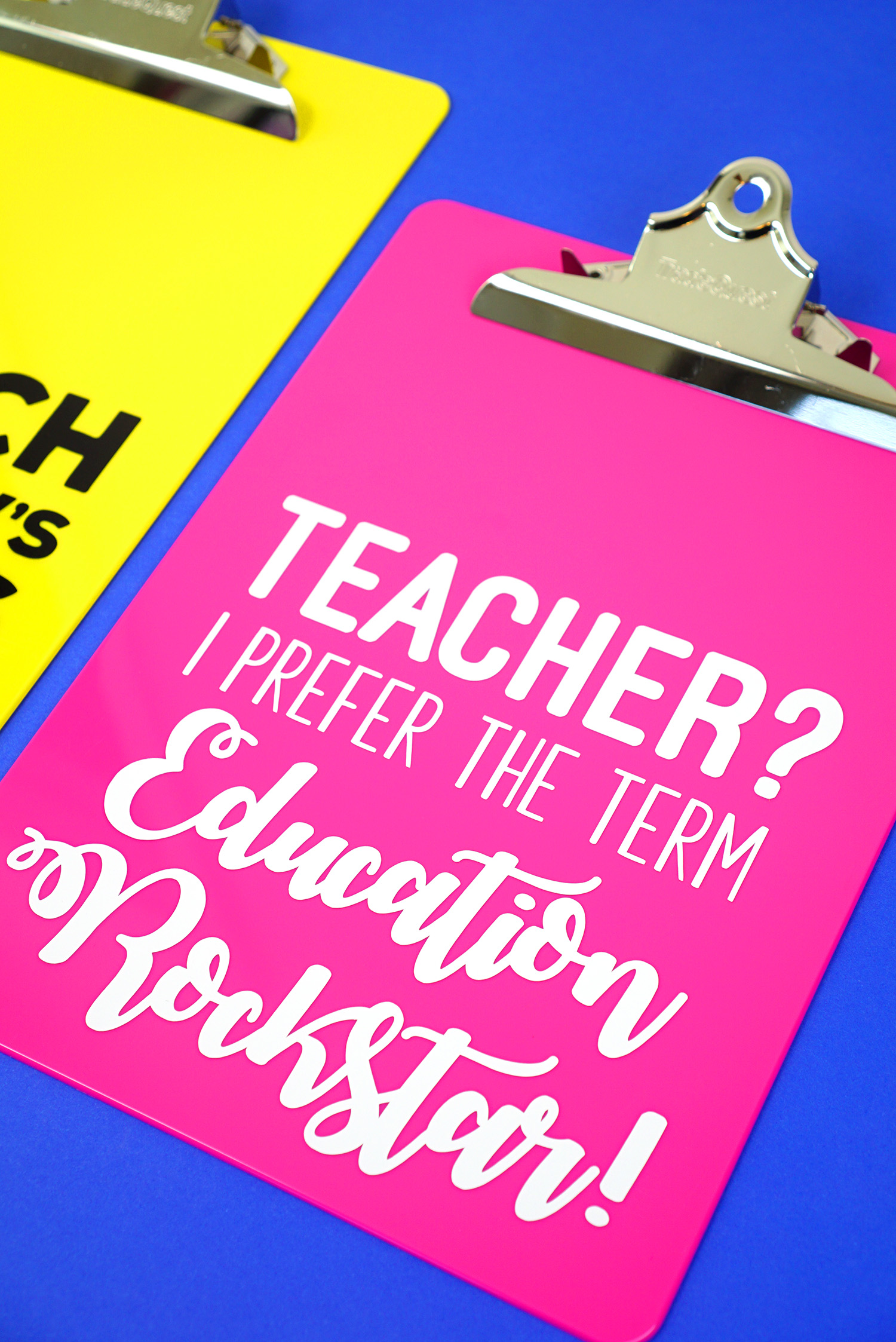 Teacher Appreciation Gift Idea Quote Clipboards