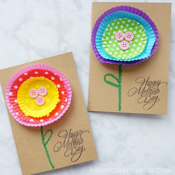 This Cupcake Liner Picture Flower from Made