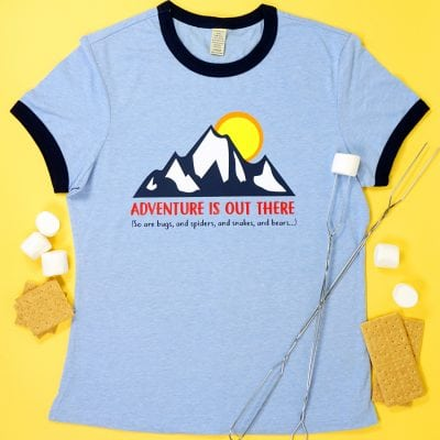 Funny Outdoor Adventure Camping Shirt + SVG File
