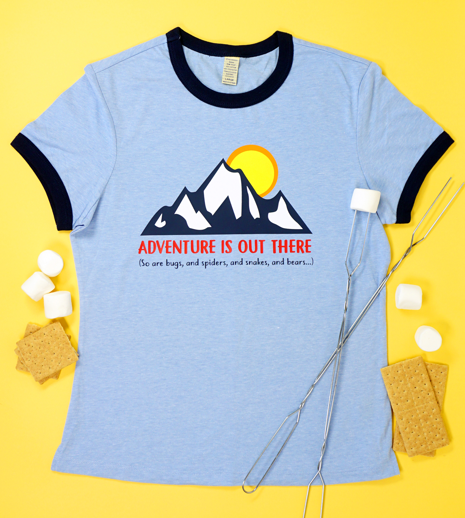 Funny Outdoor Adventure Camping Shirt Svg File Happiness Is Homemade